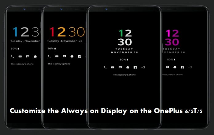 Customize the Always on Display on the OnePlus 6/5T/5