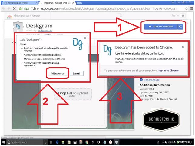 deskgram steps
