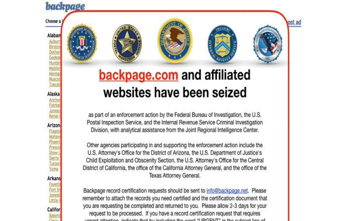 Backpage Alternative Websites
