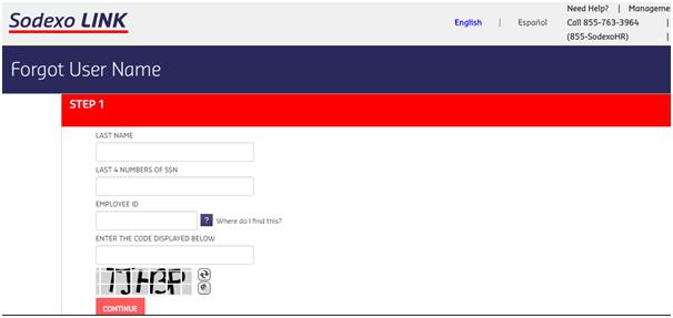 Sodexo North American portal password