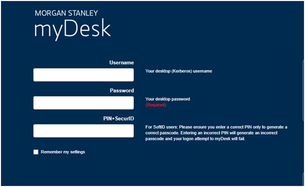 login to Mydesk morgan Stanley Account