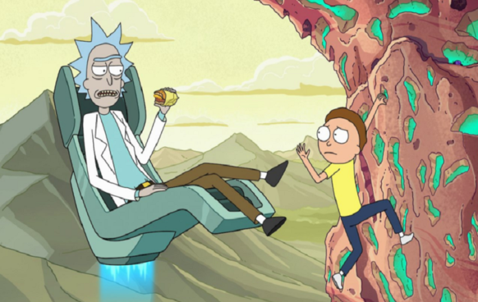 Rick and MortyKisscartoon